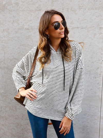 Striped Sweet Shift Paneled Shirts & Tops