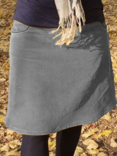 Solid Casual Pockets Skirts