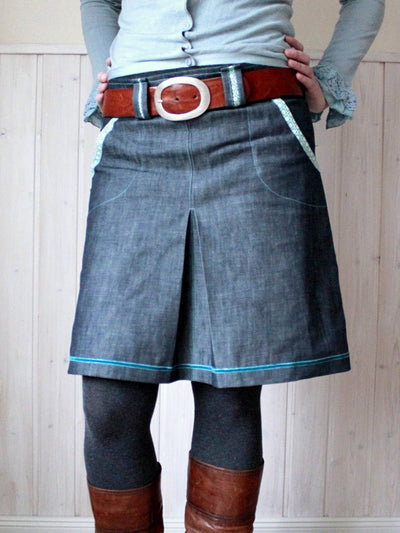 A-Line Cotton-Blend Casual Skirts