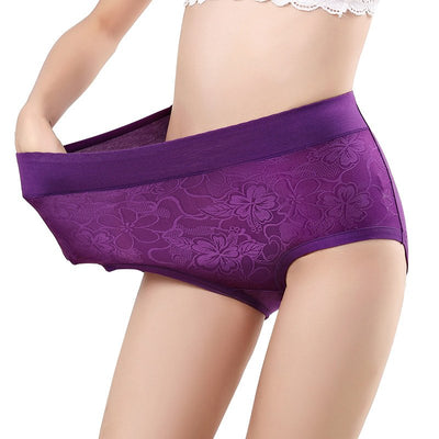 Comfortable Plus Size High Waist Hip Lifting Panties (Minimum Order Quantity 4pcs)