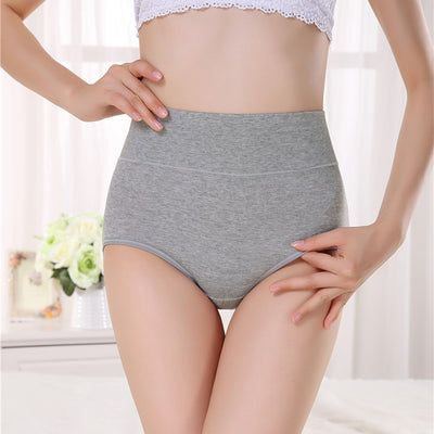 High Waist Breathable Cotton Panties Classic Briefs For Women