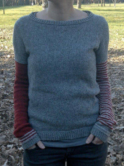 Grey Knitted Long Sleeve plus size Sweater