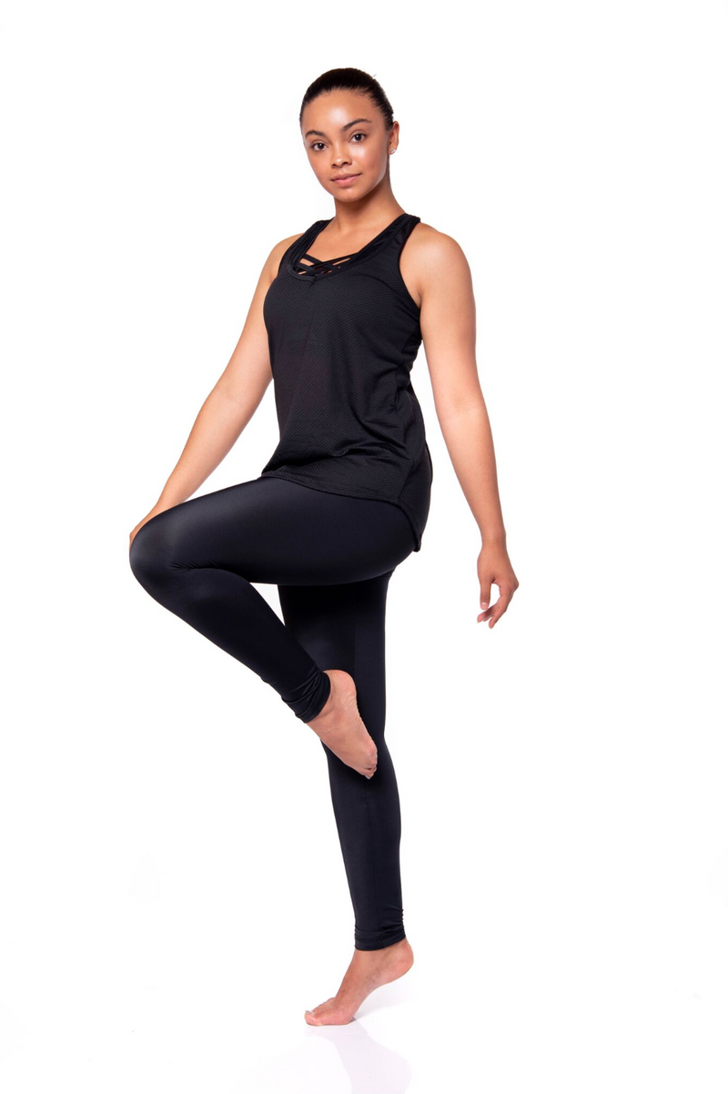 L1NEN18 - LEGGINGS UNICOLOR MULTIUSO (NEGRO)