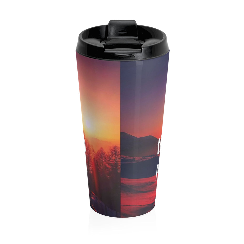 Christian Travel Mug 15 oz (Psalm 150:6, Let Everything That Has Breath Praise the Lord)