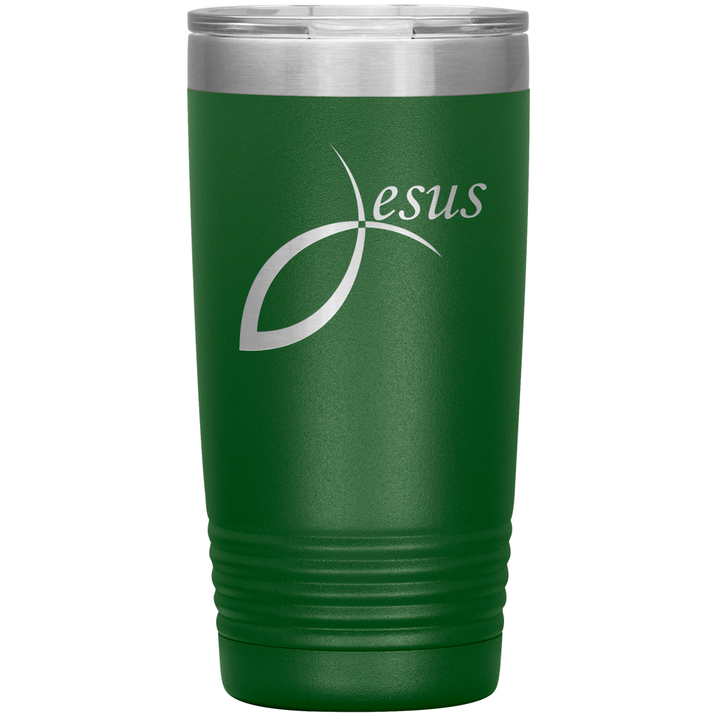 Jesus 20oz Vacuum Tumbler - Laser Etched Travel Mug ideal Gift for Christian Friends & Church Members