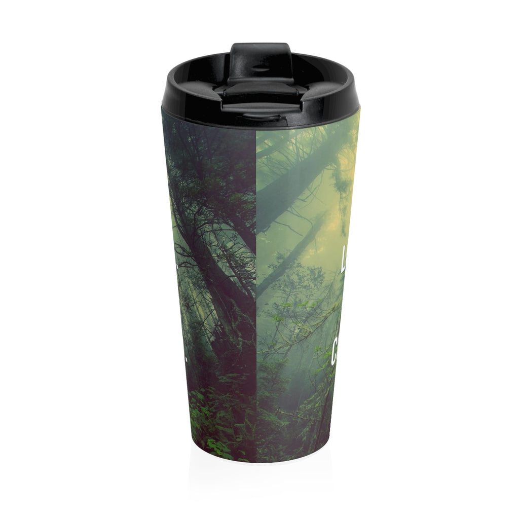 Christian Travel Mug 15 oz (Romans 12:9)