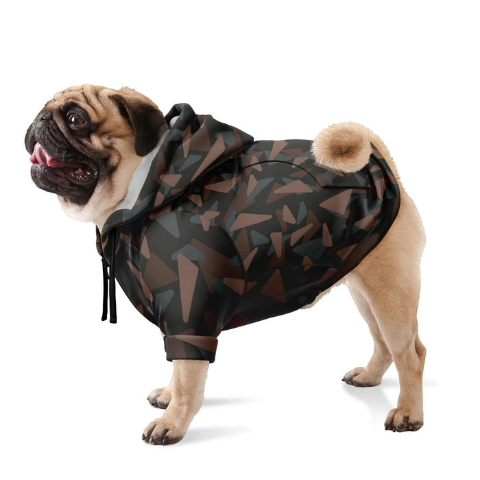 All Over Print Fashion Zip-Up Dog Hoodie