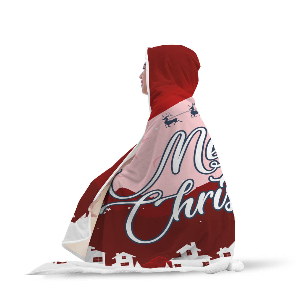 Christmas Hooded Blanket (Design# SAC07)