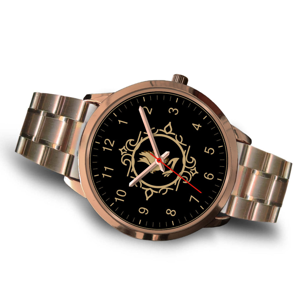 Christian Rose Gold Watch, Dove Inspired Design Watch