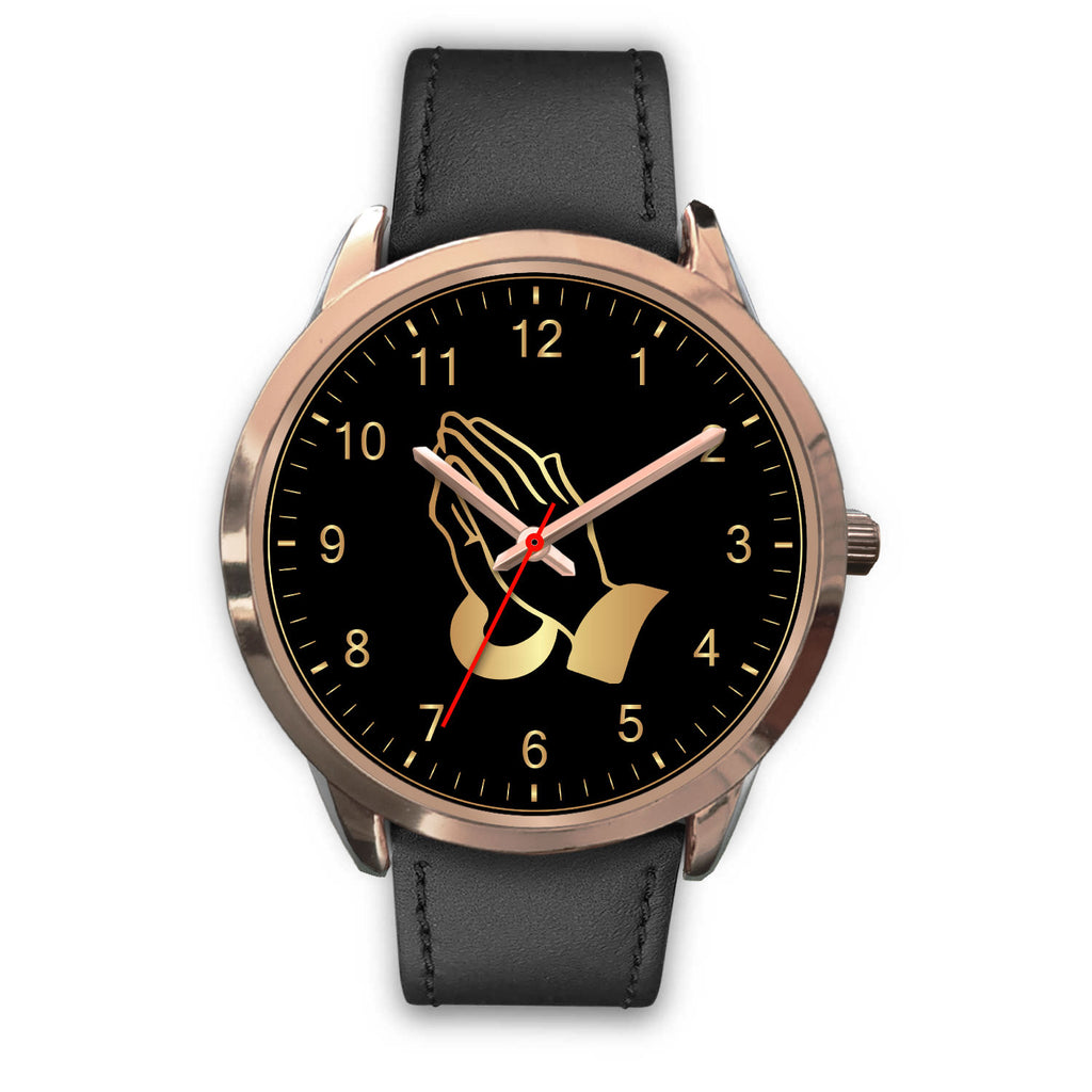 Christian Rose Gold Watch, Prayerful Hand