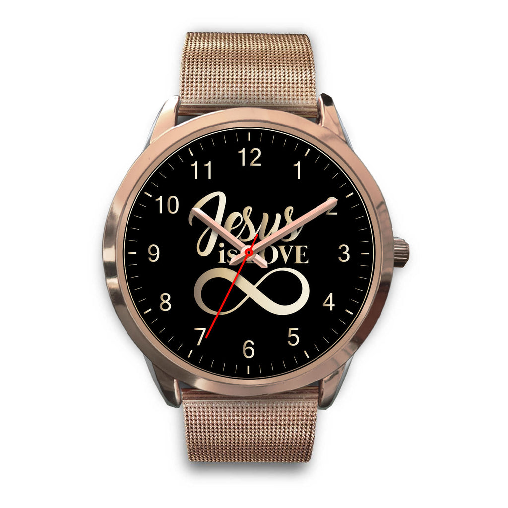 Christian Rose Gold Watch (Jesus Is Love)