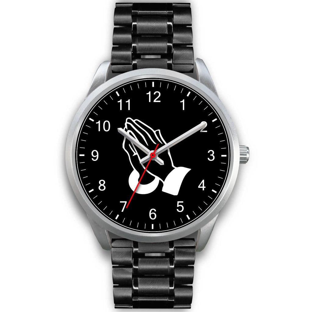 Christian Silver Watch, Prayerful Hand