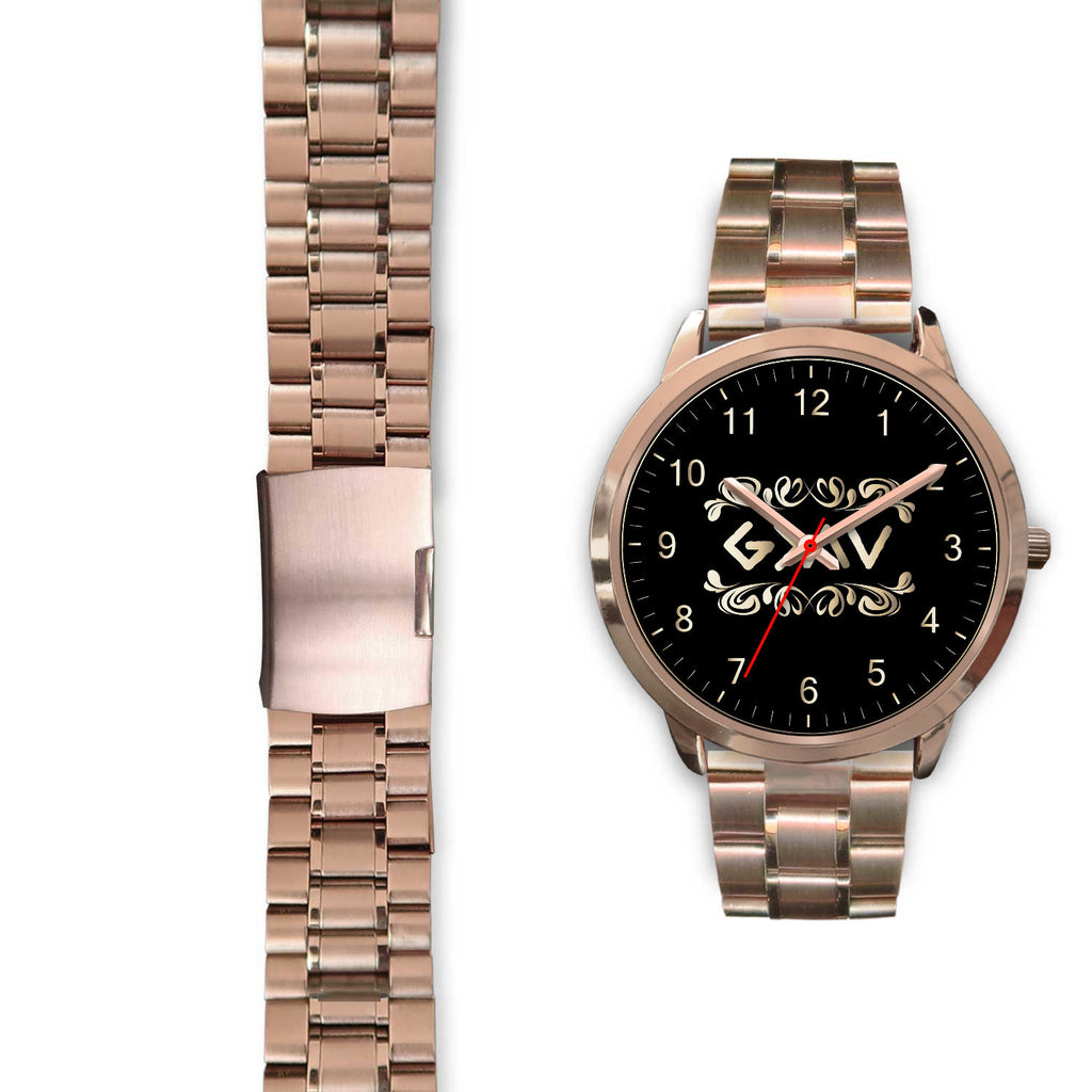 Christian Rose Gold Watch, God Is Greater Than The Highs And The Lows