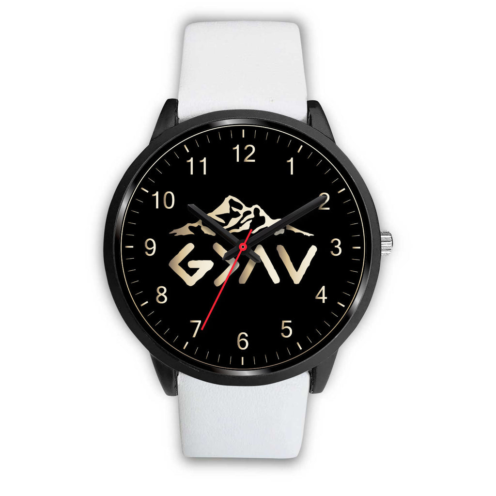 Christian Black Watch - Custom Wristwatch - God Is Greater Than the Highs and the Lows Watch - Scripture Wristwatch - Men's Watch - Women's Watch
