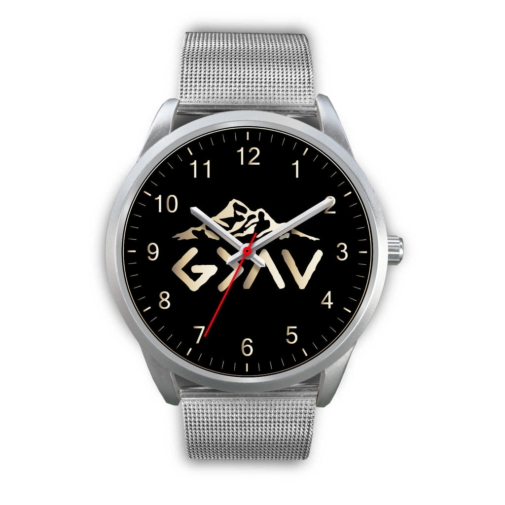 Christian Silver Watch - Custom Wristwatch - God Is Greater Than the Highs and the Lows Watch - Scripture Wristwatch - Men's Watch - Women's Watch