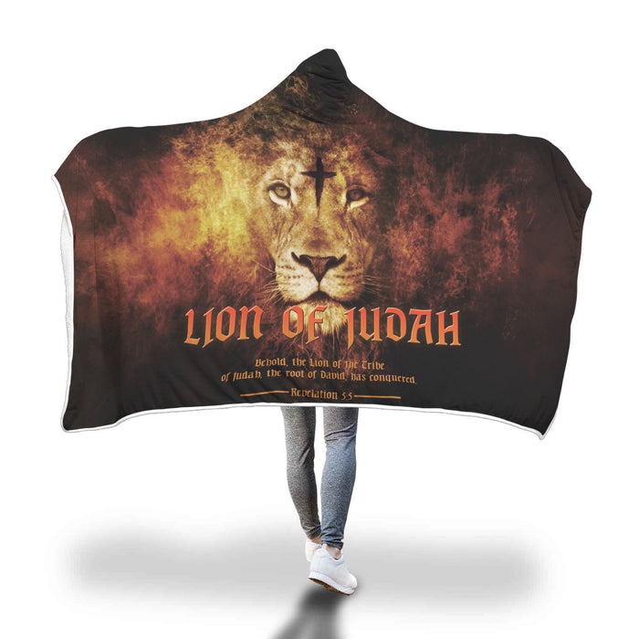 Christian Hooded Blanket - Lion Of Judah (Revelations 5:5)