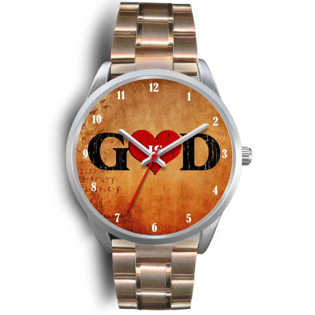 Christian Silver Watch (God Is Love)
