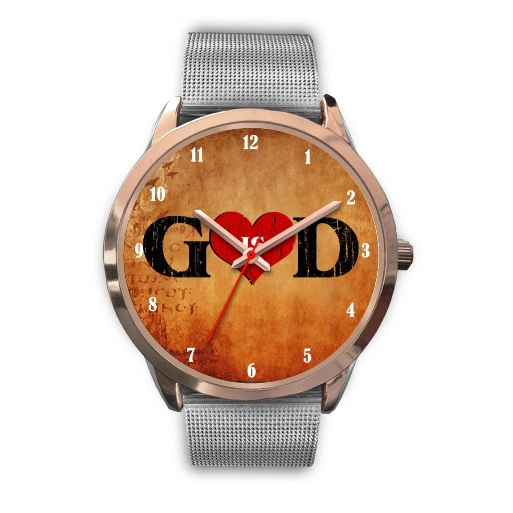 Christian Rose Gold Watch, God Is Love