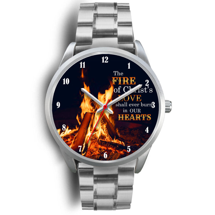 Christian Silver Watch, The Fire Of Christ's Love