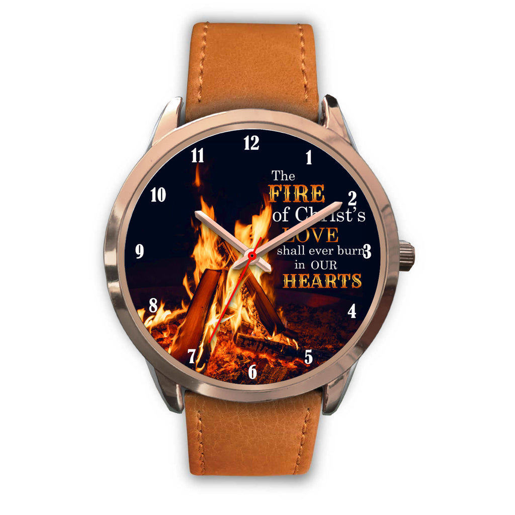 Christian Rose Gold Watch - The Fire Of Christ's Love