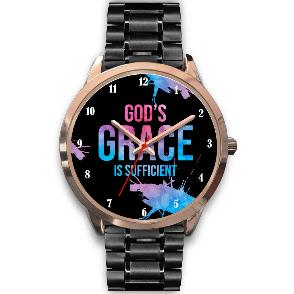 Christian Unisex Watch - God's Grace Rose Gold Watch