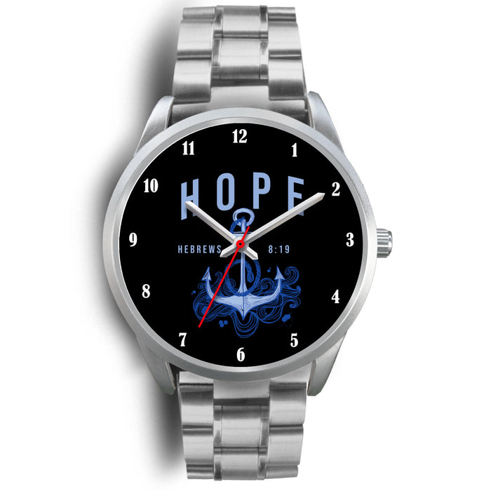 Christian Silver Watch - Hope (Hebrews 8:19)