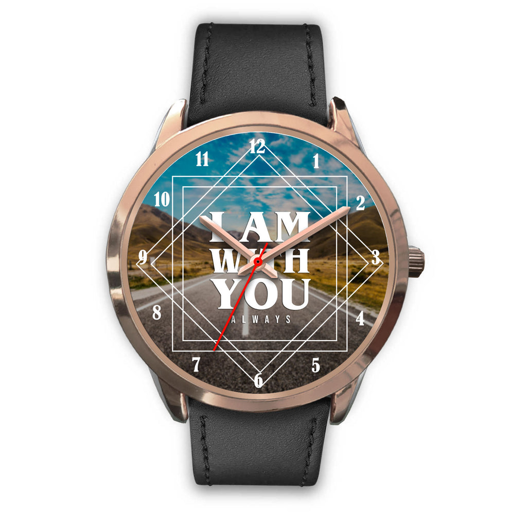 Christian Rose Gold Watch, I Am With You Always