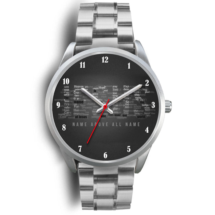 Christian Silver Watch, Jesus Name Above All Name