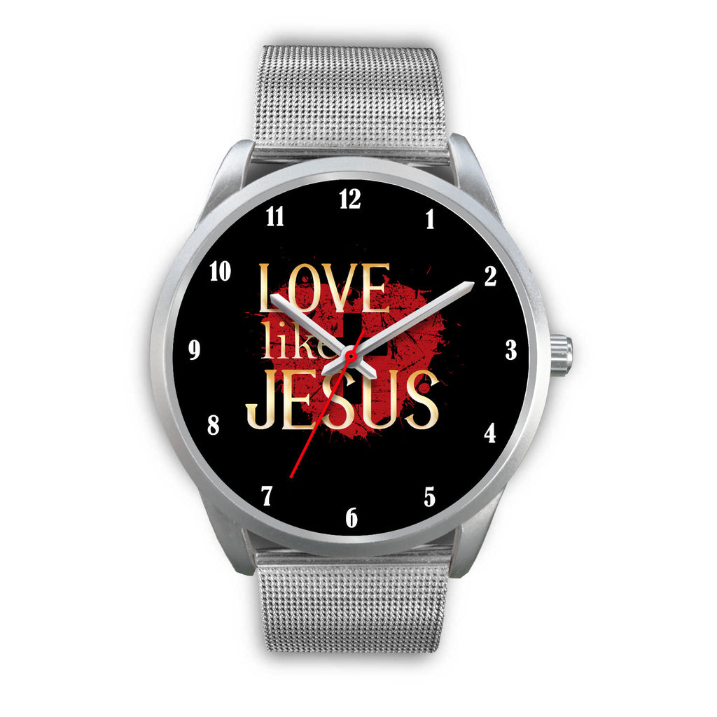 Christian Silver Watch, Love Like Jesus