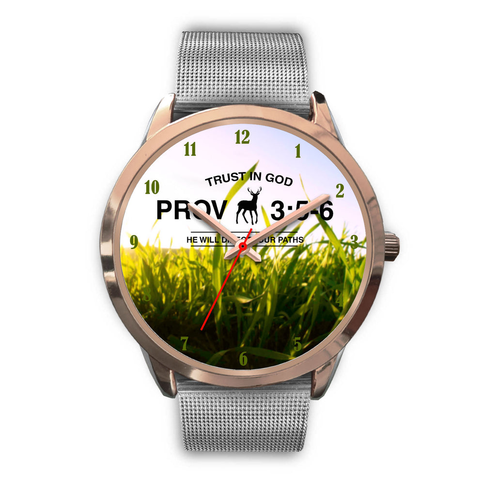 Christian Rose Gold Watch, Trust In God