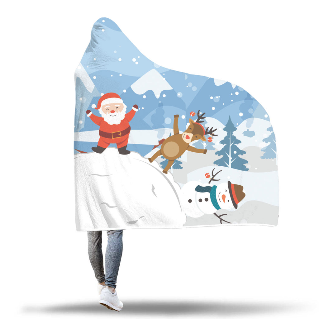 Christmas Hooded Blanket (Design# SAC29)