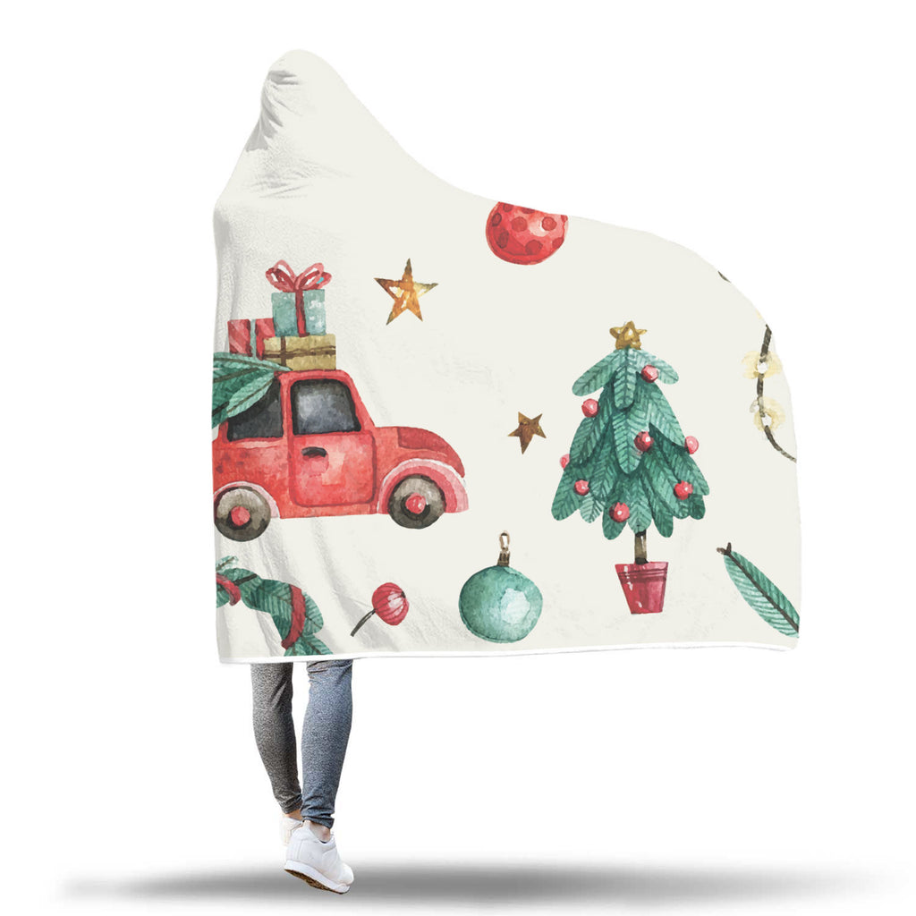 Christmas Hooded Blanket (Design# SAC30)