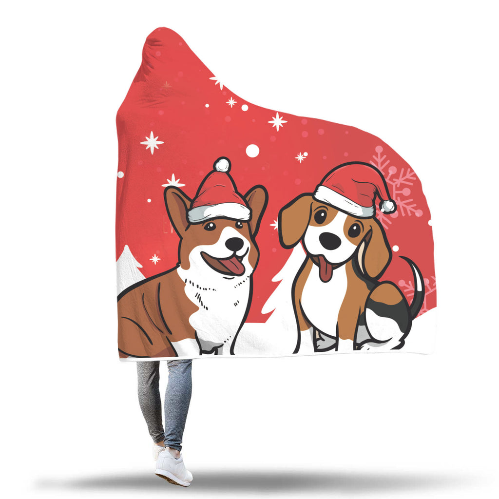 Christmas Hooded Blanket (Design# SAC36)