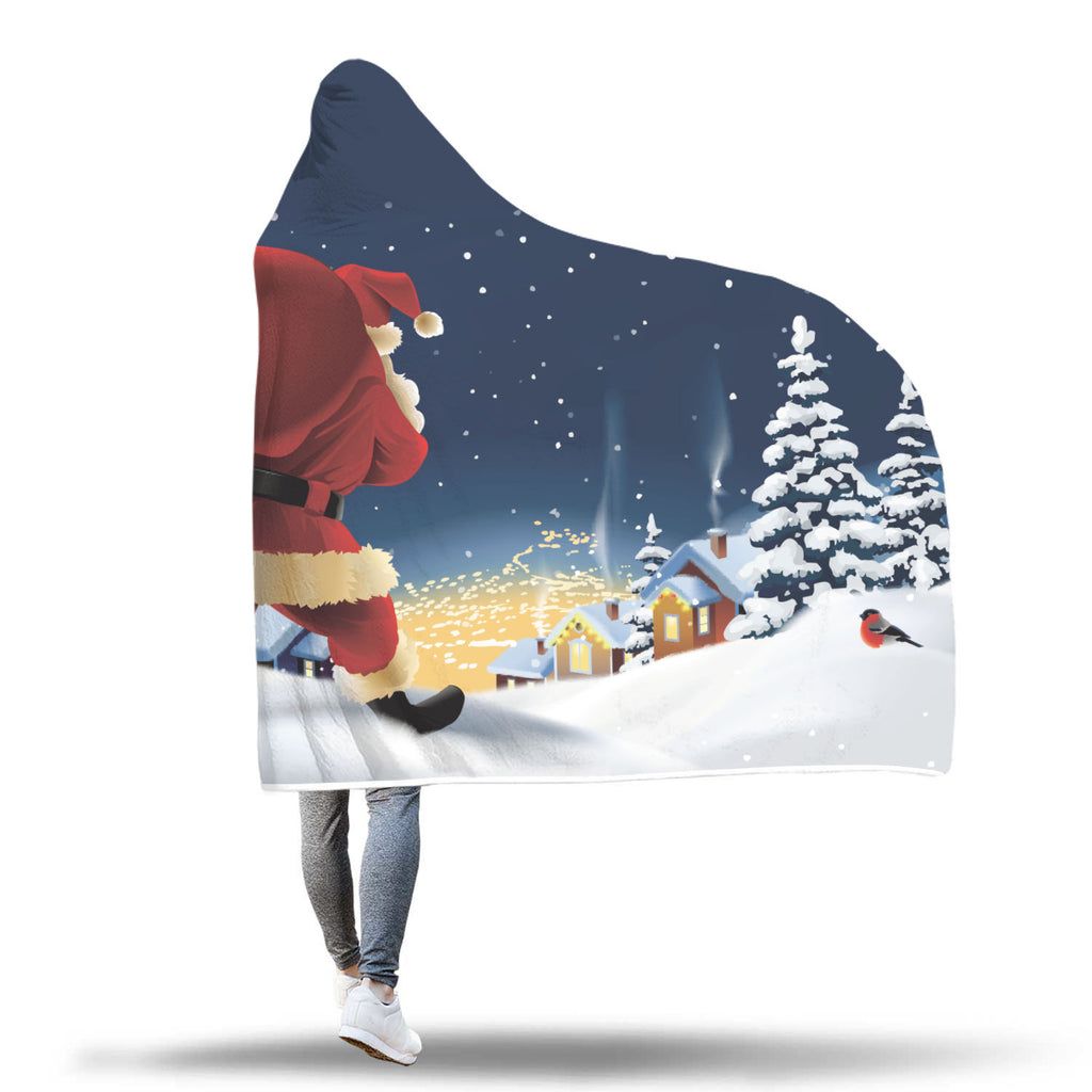 Christmas Hooded Blanket (Design# SAC46)
