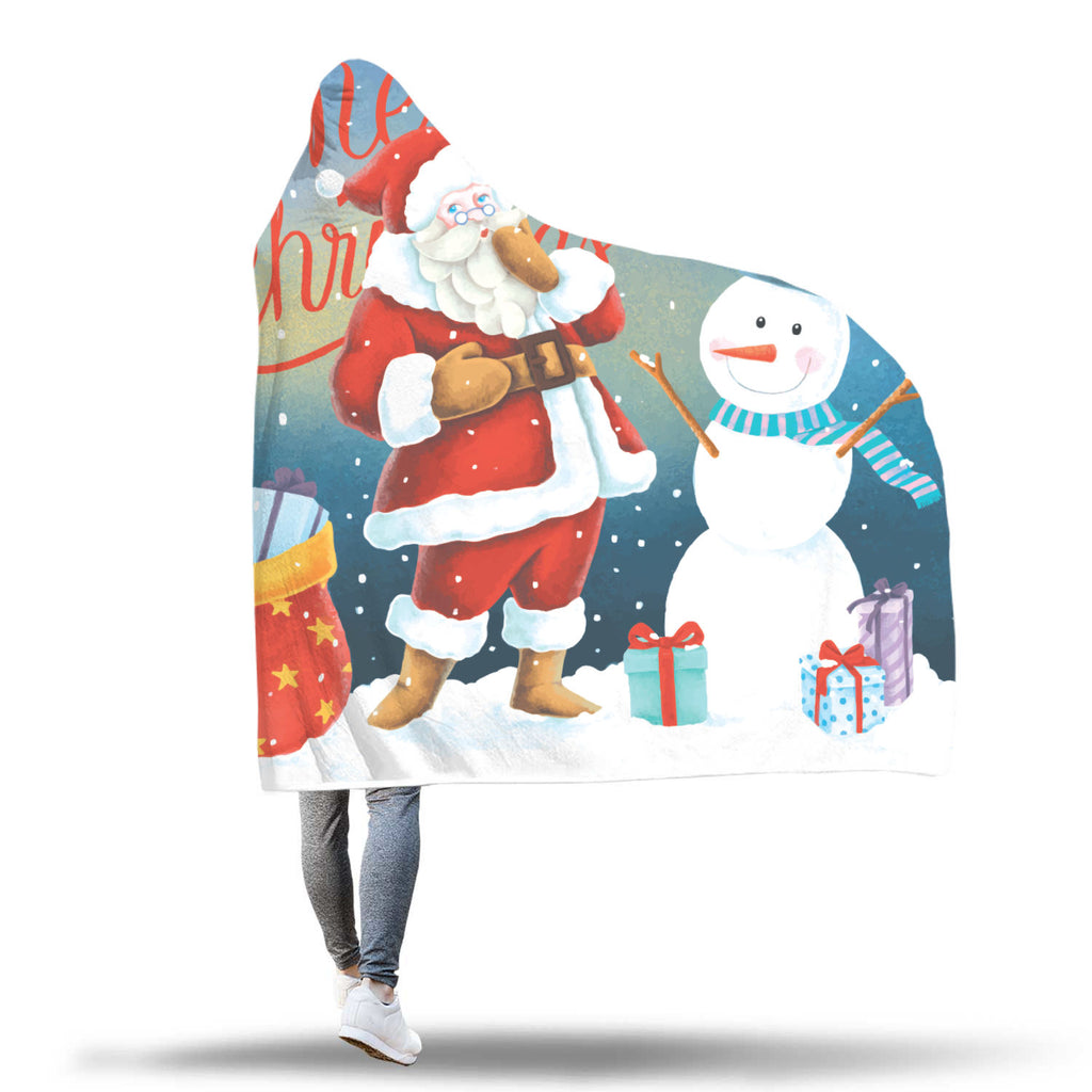 Christmas Hooded Blanket (Design# SAC47)