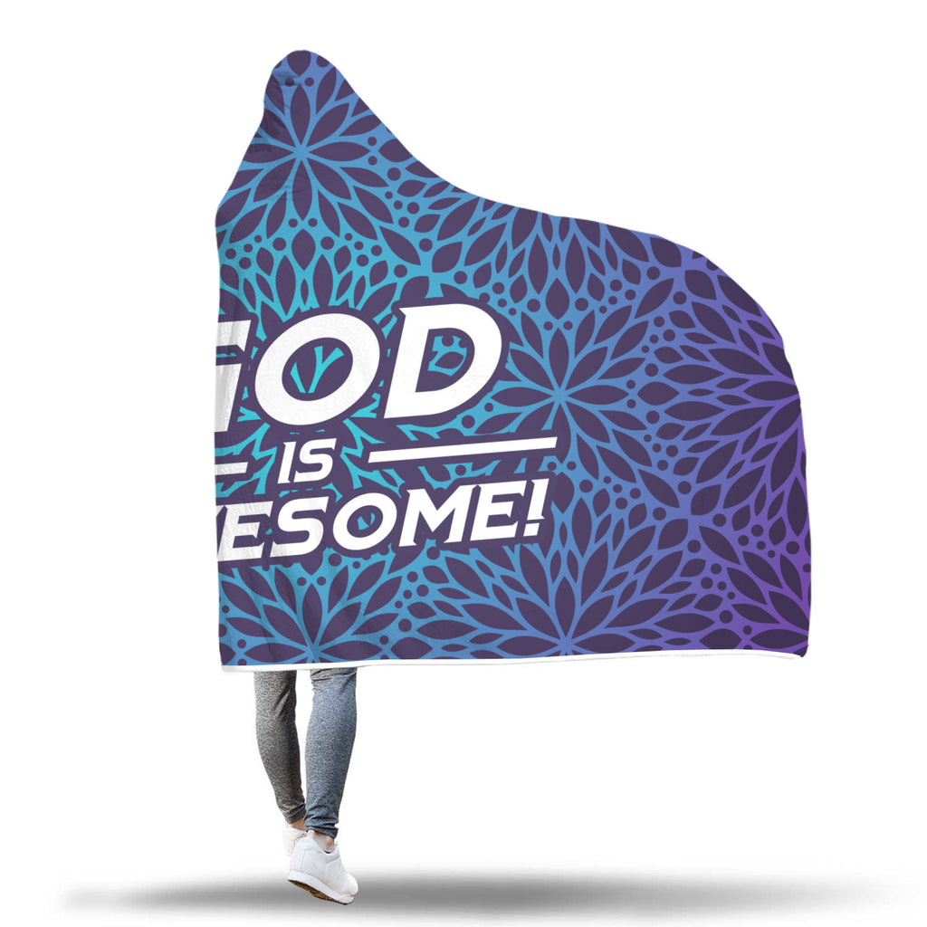 Christian Hooded Blanket -  God Is Awesome