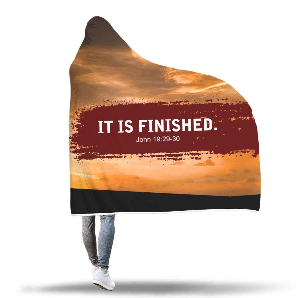 """It Is Finished"" Hooded Blanket"
