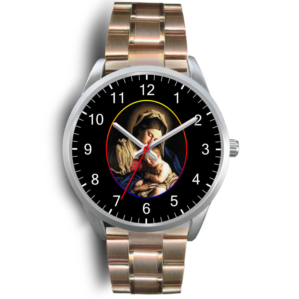 """Virgin Mary"" (D3) Silver Watch"