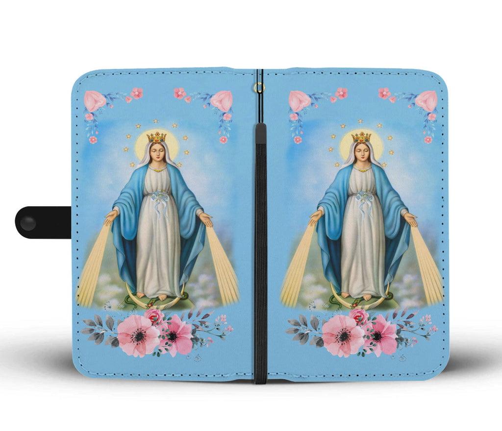 """Virgin Mary"" (D2) Wallet Phone Case"