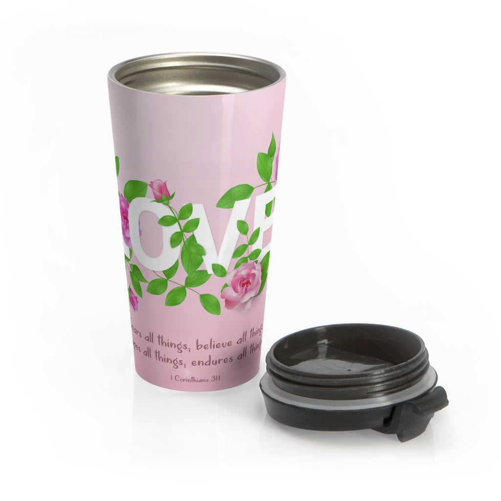 Christian Travel Mug 15 oz (Love)