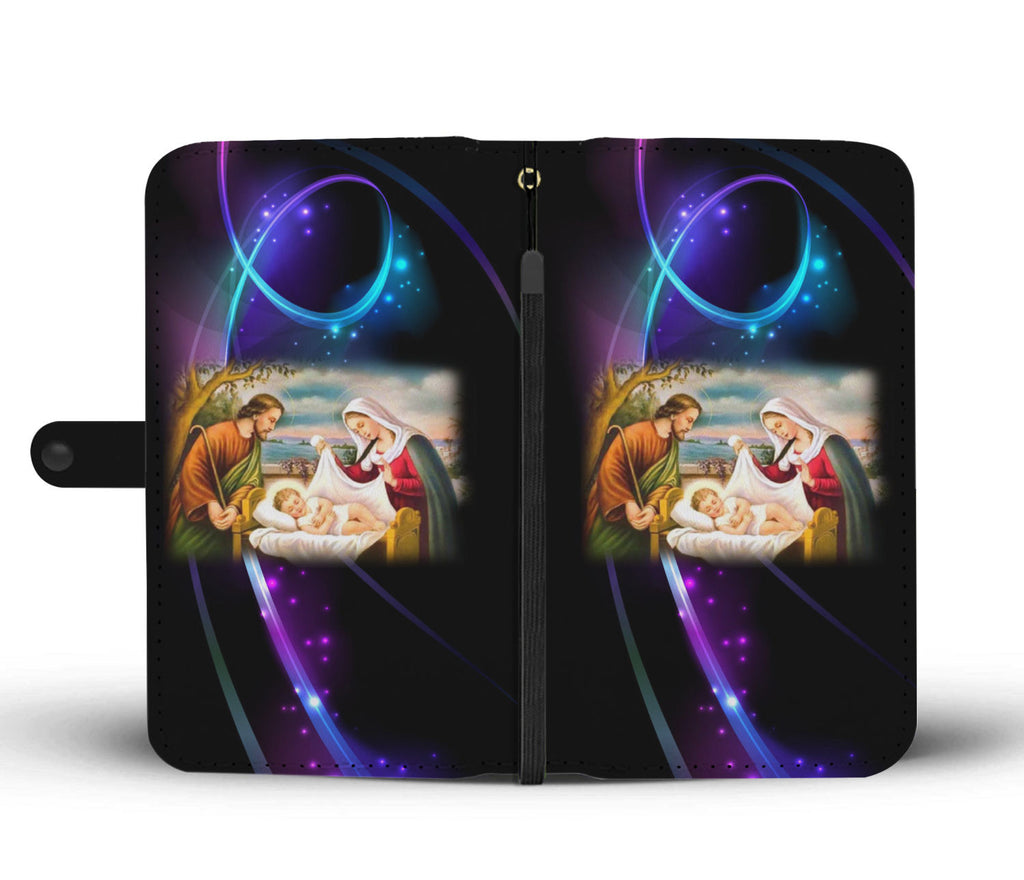 Christian Wallet Phone Case - Birth Of Christ
