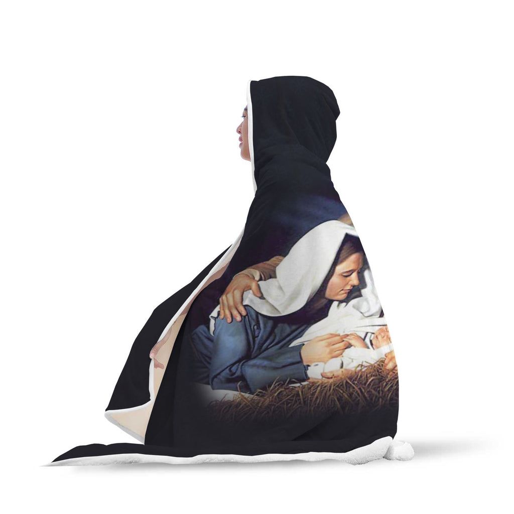 Christian Hooded Blanket - Birth Of Christ