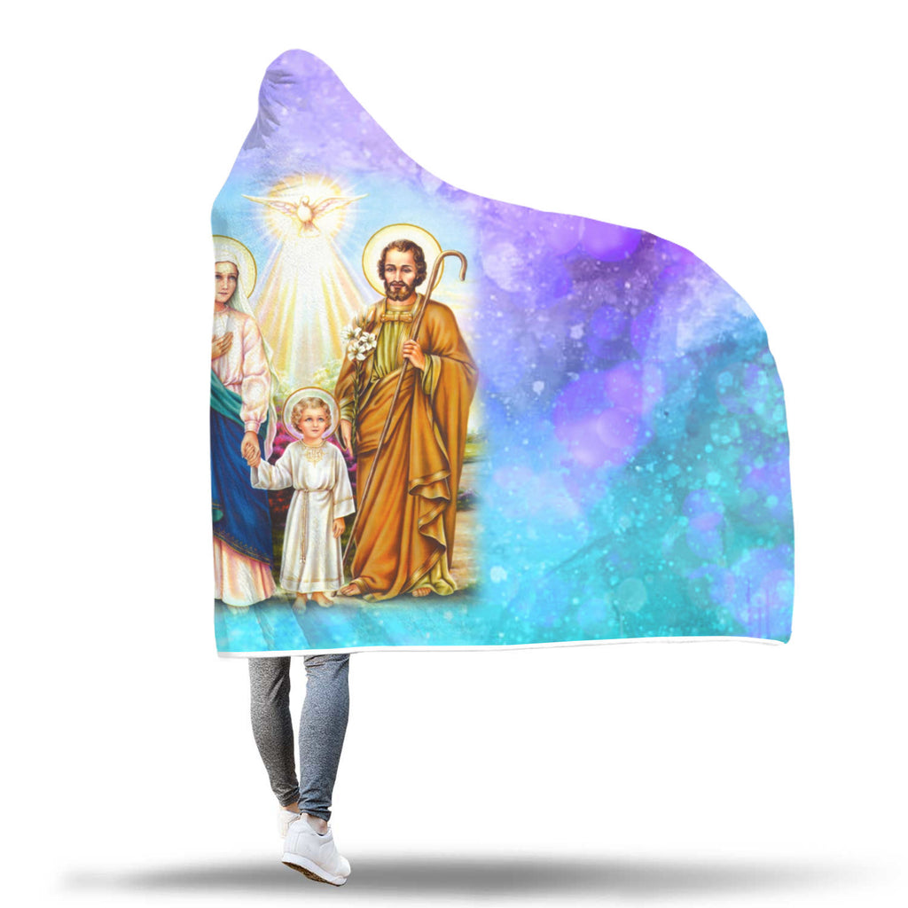 """Holy Family"" Hooded Blanket"