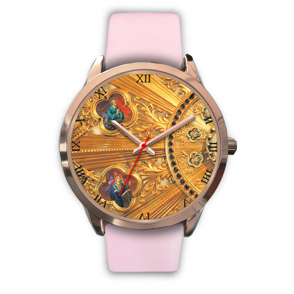 """Saints"" Rose Gold Watch"