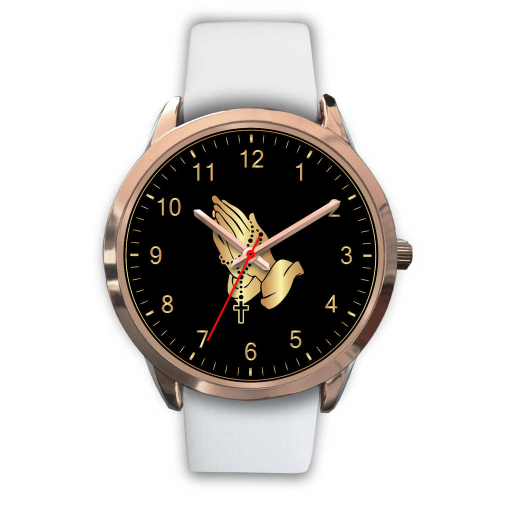 """Rosary Prayer"" Rose Gold Watch"