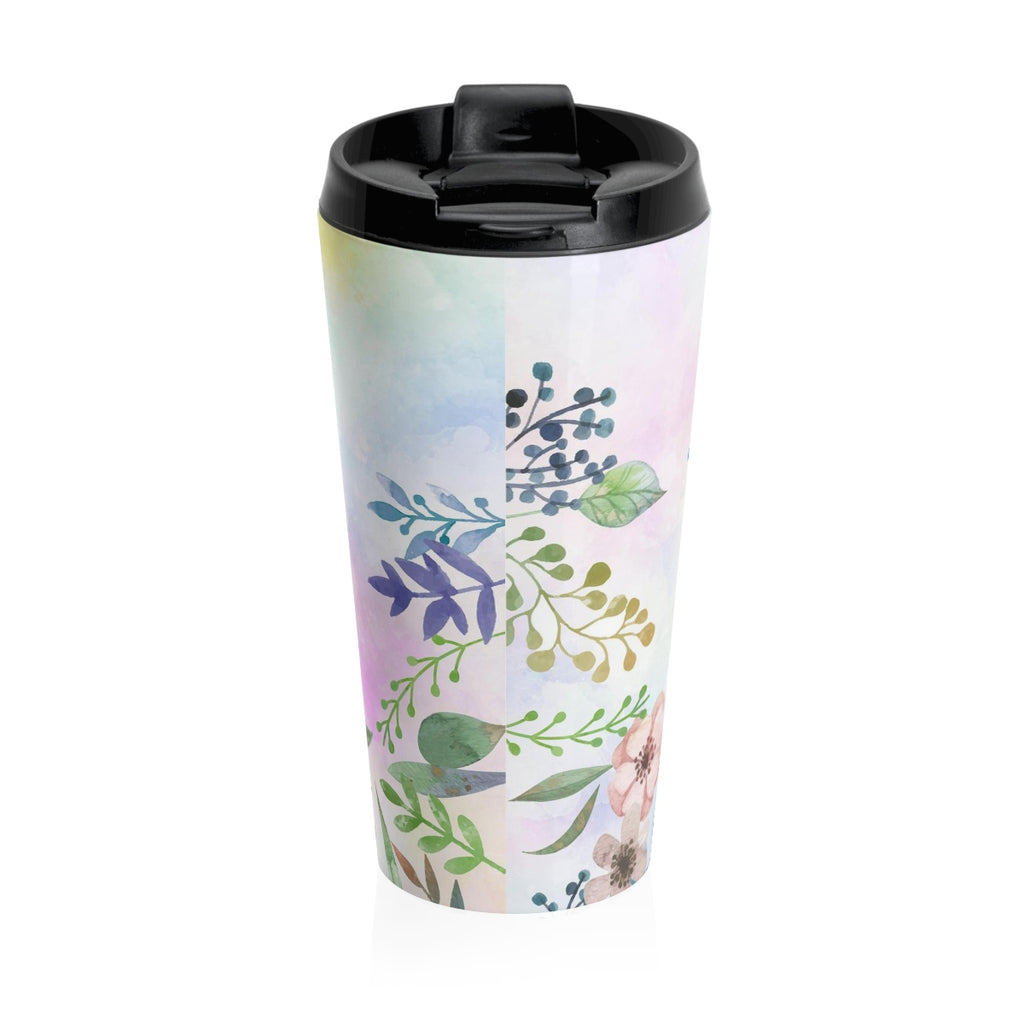 Christian Travel Mug 15 oz (Psalm 55:22, Cast You Cares On The Lord)