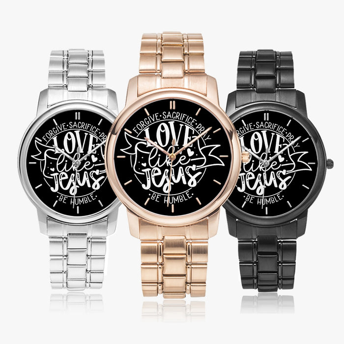 LoveLikeJesus Stainless Steel Quartz Watch (Folding Clasp Type)