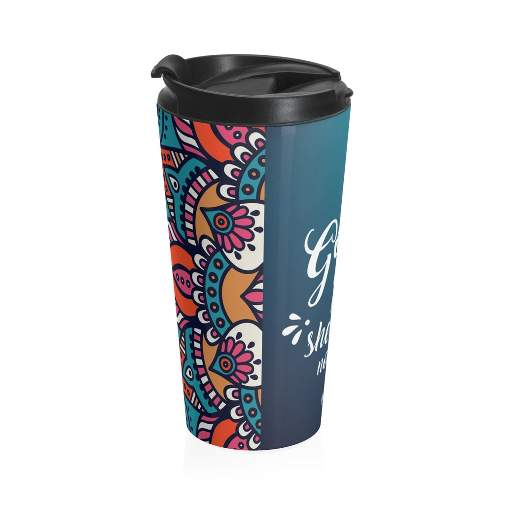Christian Travel Mug 15 oz (Psalm 46:5, God Is Within Her)