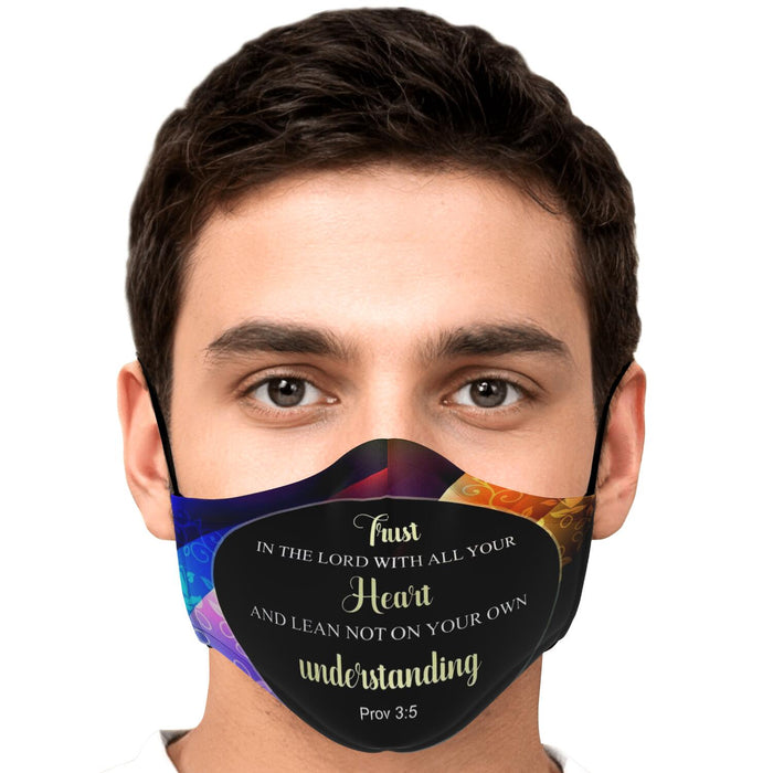 Fashion Face Mask (Trust In The Lord) - 5 Layers