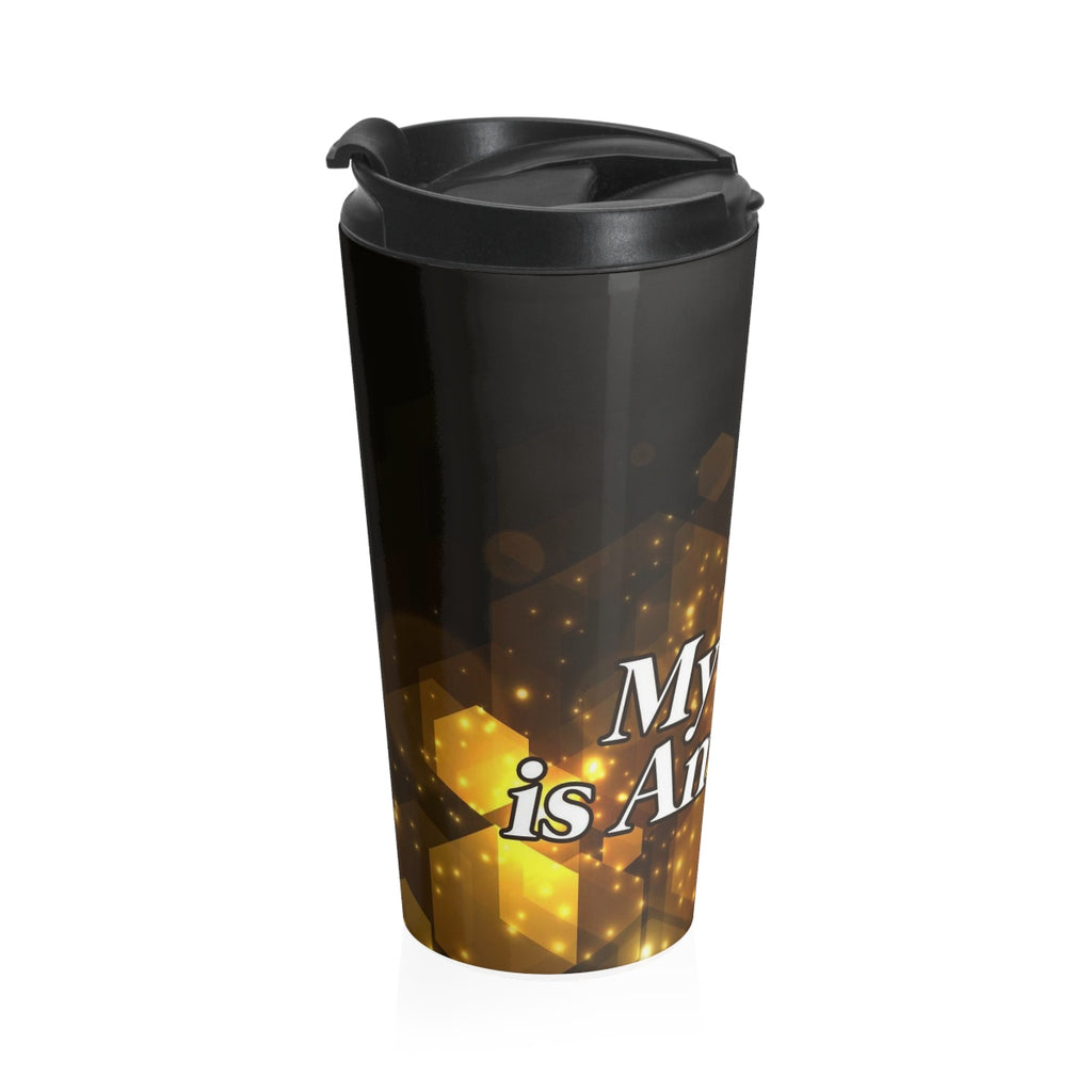 Christian Travel Mug 15 oz (My God Is Amazing)